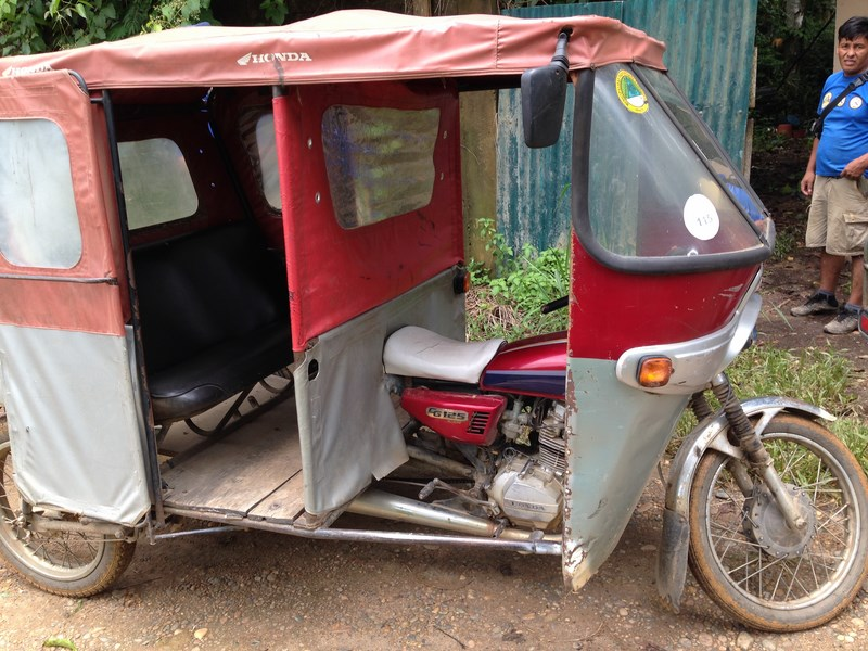 Motocar, the cheapest mode of public transport, is actually a 100cc bike modified in a form of an auto rikshaw