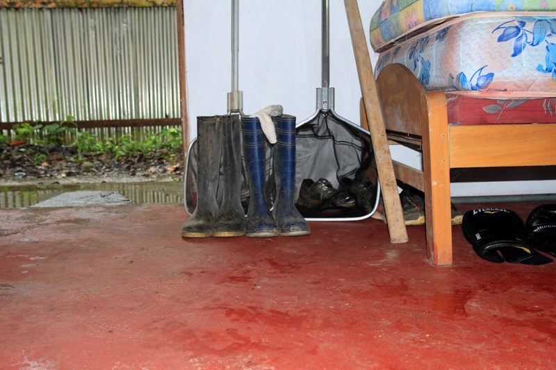 tools of the trade: rubber boots and nets