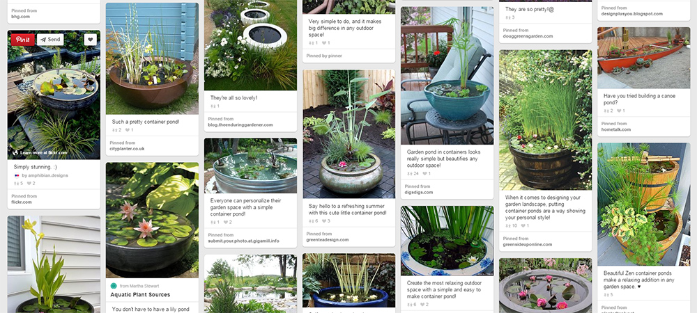 """Container Ponds & Ponds in a Pot   Short on space? Container pons and """"ponds in a pot"""" fit anywhere. See more on Pinterest!"""