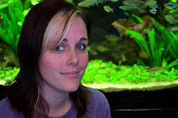 Chelsea Walery at the Wet Spot Tropical Fish, Portland, Oregon.
