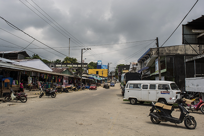 Leticia's main road and 'downtown' area