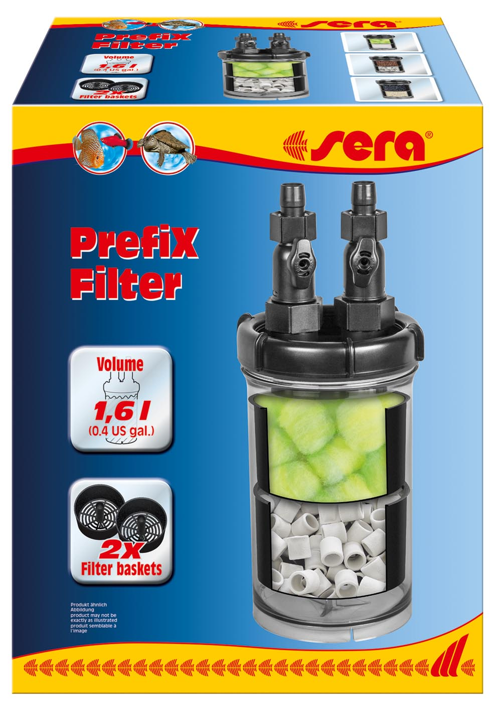 sera's new PrefiX Filter is a non-motorized media container that can be used to expand the filtration volume and capacity of existing filter systems.