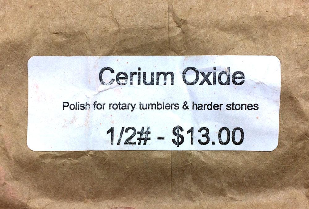 Cerium oxide powder.