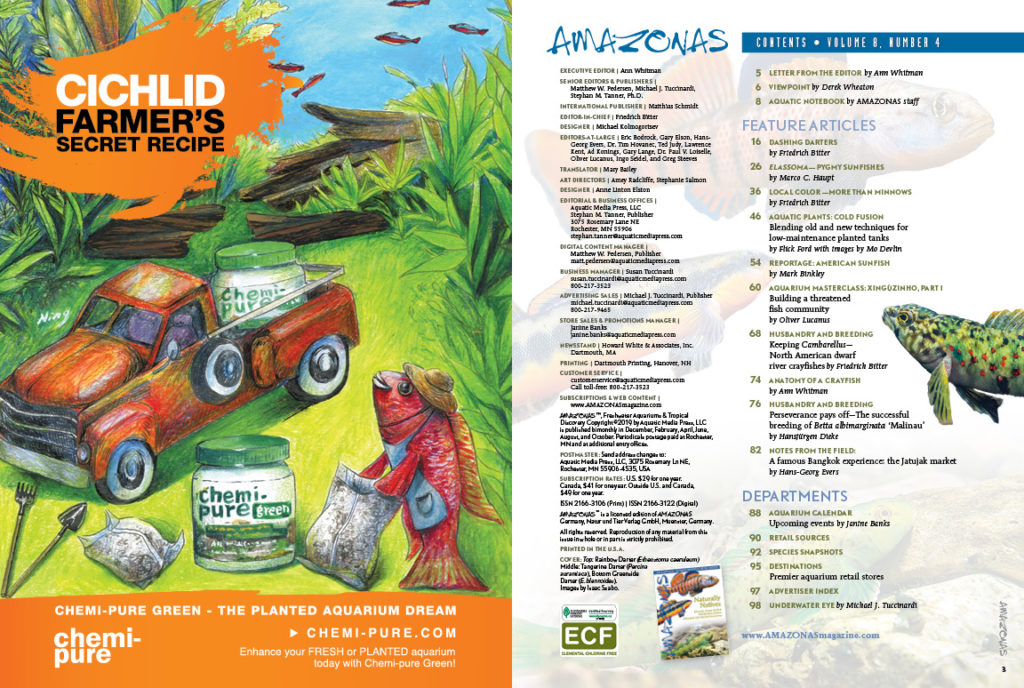 """The Table of Contents for the July/August 2019 issue of AMAZONAS Magazine. <a href=""""https://www.reef2rainforest.com/2019/06/02/amazonas-magazine-table-of-contents-july-august-2019/"""" target=""""_blank"""" rel=""""noopener noreferrer"""">You can view this TOC online!</a>"""