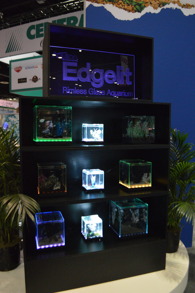 A glimpse at the Edgelit product line on display at the 2020 Global Pet Expo.