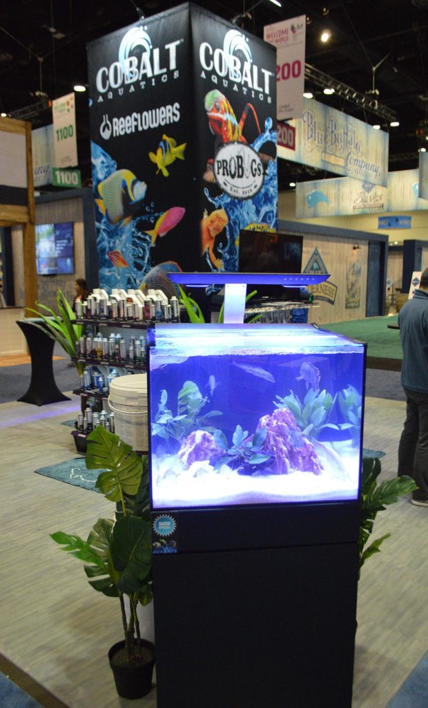 We'll close out this installment of the 2020 Global Pet Expo coverage with one last parting shot of an aquarium from the Cobalt Aquatic's display.