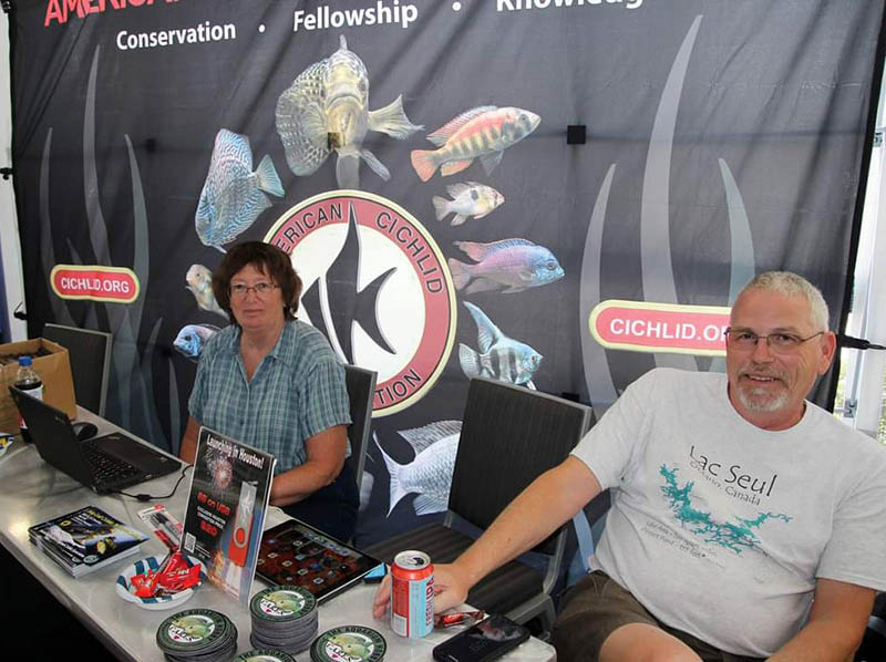 Jan and Phil Benes at the ACA booth.